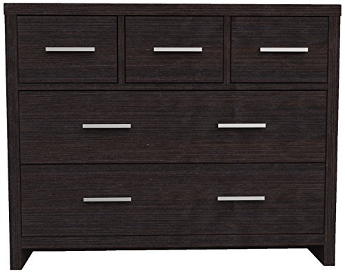 Furniture 247 Kommode mit 5 Schubladen - Schwarze Eiche (Black Oak)