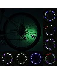14LED luces para rueda de bicicleta moto ciclismo bicicleta bicicleta rueda neumático de señal impermeable continúa 30diferentes patrones de luz cambio