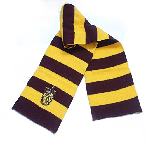 Sciarpe di Harry Potter Saga Stemmi a Scelta - Adulti e Ragazzi - Unisex (Grifondoro - Gryfondor - Vinaccio e Giallo)