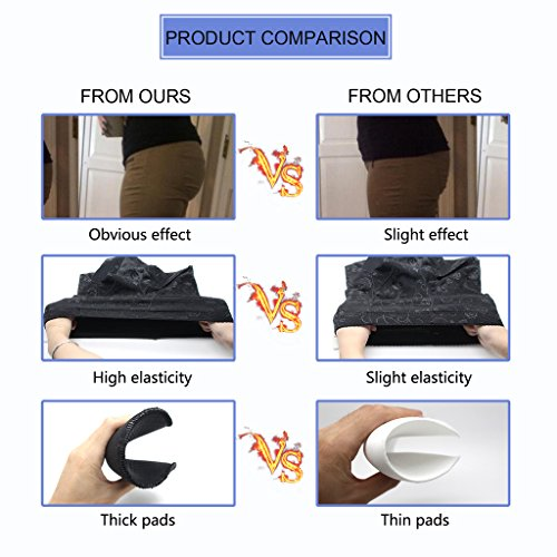 NINGMI Frauen Butt Lifter Padded Control Höschen Nahtlose Hüfte Enhancer Shapewear Unterwäsche Shaper Boy Shorts Schwarz