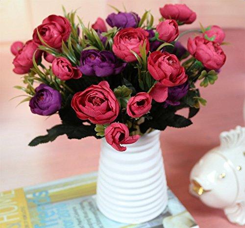 Hosaire Vase Kreativ Plastik Vase Blumen Pflanzen Set Wohnzimmer Dekoration Blumen Arrangement Blume Vase,Weiss - 3