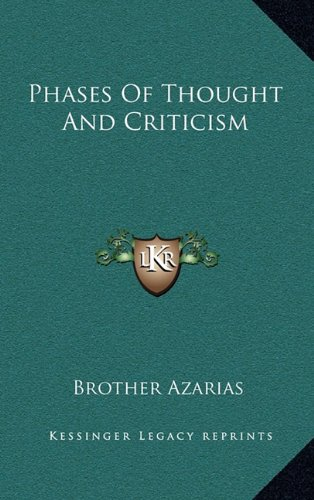 Phases of Thought and Criticism