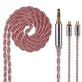 Câble de remplacement pour écouteurs Yinyoo 6 c?urs, mise à niveau de cuivre, câble d'écouteur de 3,5 mm avec 0,78 mm à 2 goupilles pour kz ES4 ZS6 ZS7 ZST AS06 TRN V80(2Pin 3.5)