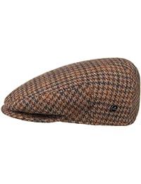 Lierys Inglese Hahnentritt Flatcap Schirmmütze für Herren Schirmmütze Schiebermütze Wintercap mit Schirm, mit Futter Winter Sommer