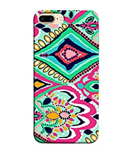 PrintVisa Batik Floral Pattern 3D Hard Polycarbonate Designer Back Case Cover for Apple iPhone 7 Plus