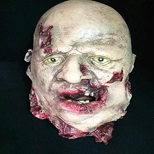Circlefly Máscara de Horror de Halloween Bar casa embrujada decoración atrezzo Horror Cicatriz Colgante Fantasma Peluca