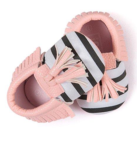 Ouneed® Krabbelschuhe , 0-18 Monate Baby bett Quasten Bowknot schuhe Kleinkind Turnschuh Freizeit schuhe Rosa