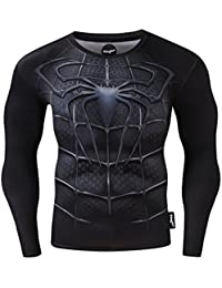51cc5f39c7 Fringoo® Mens Compression Superhero Top Base Layer Gym Long Sleeve Running Thermal  Sweatshirt Workout T
