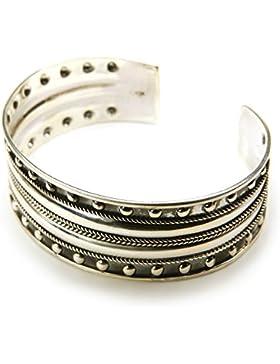 Schmuck Armreif breit 925 Silber Armschmuck Armband Niete