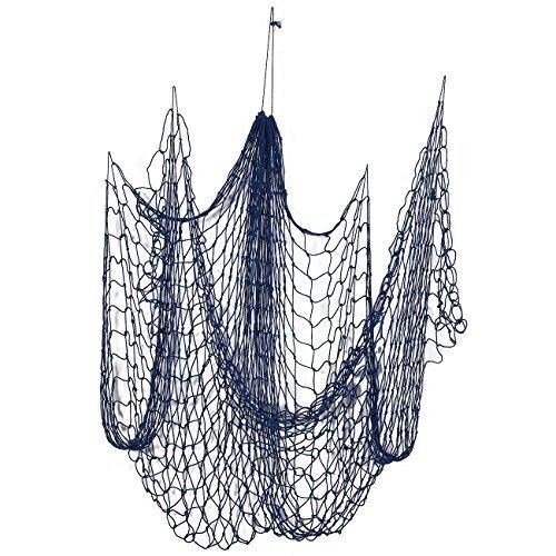 Deko Nautische Fischnetz-Baumwolle Net, Meer Party Decor, Angeln Thema Party Dekorationen, Fish Net, Blau-200,7x 127cm