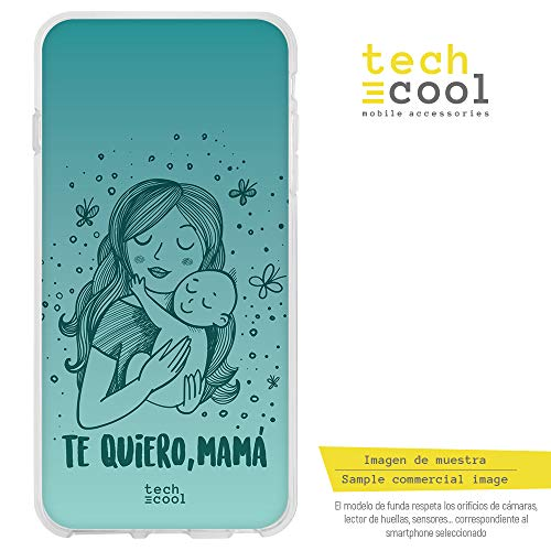 Q Hülle SchutzHülle Soft TPU Silikon Transparent für LG G7 ThinQ l Case, Cover, Handy, High Definition Druck [Dia de la Madre te Quiero Mama Version Verde] ()
