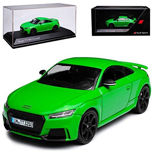alles-meine GmbH Audi TT RS FV 8S Coupe Grün 3. Generation Ab 2014 1/43 Kyosho i-Scale Modell Auto mit individiuellem Wunschkennzeichen