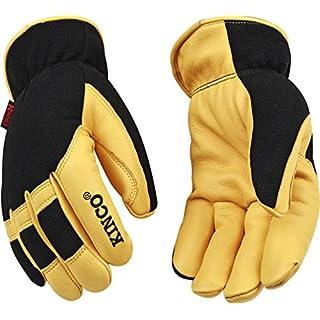 KINCO INTERNATIONAL - Medium Men's Premium Grain Deerskin Leather Gloves