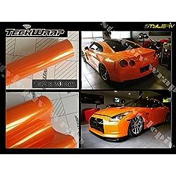 TECKWRAP Film Covering Orange Brillant Pearl 152 x 30 cm de Marque Vinyle adhésif thermoformable