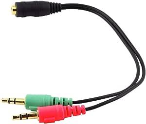 Vbncvbfghfgh Universal 3 5 Mm 2 In 1 Kopfhörer Audio Adapterkabel Buchse Auf Doppelstecker Verlängerungskabel Y Splitter Für Telefon Pc Mp3 Mp4 Küche Haushalt