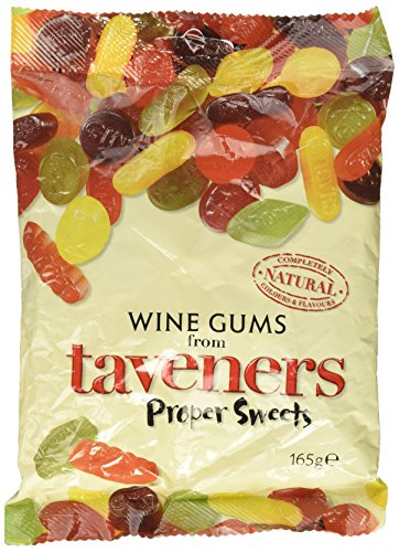 Taveners Candy Pouch 165g (Wine Gums) by Taveners