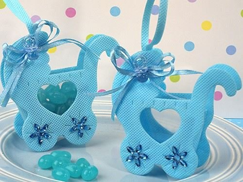 ckende Kinderwagen-Art-Baby-Duschen und Partei-Bevorzugungen Geschenk-Taschen - Blau (3er-Pack) (Geschenk-taschen Für Baby-dusche-bevorzugungen)