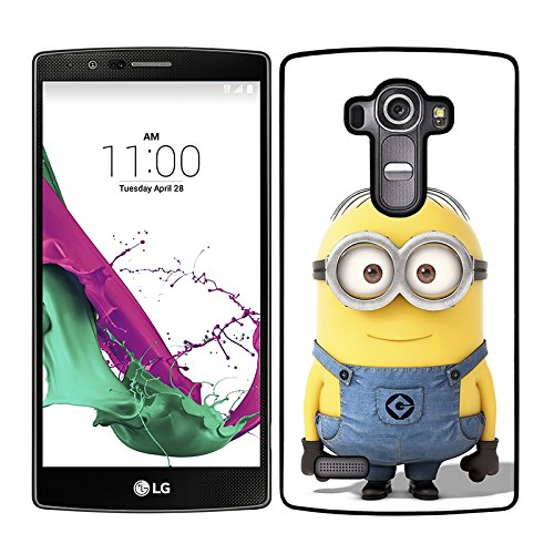 Funda carcasa para LG G4 dibujo minion borde negro
