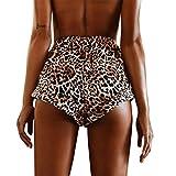 squarex Frauen Sexy Hot Pants Sommer Leopard Print Shorts Nahen Taille kurz Hose, damen, braun, Large
