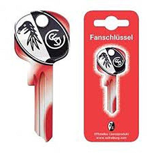 Preisvergleich Produktbild Basi und Möller Fanschlüssel plus Rema Schlüsselschild zur Personalisierung (Schlüsselrohling: U-15D,  SC Freiburg)