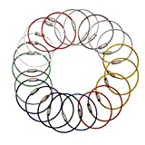 Multicolor Steel Wire keychain, Stainless key ring, Durable Steel Cable Ring, Cable keyring Twist Barrel (20pcs)