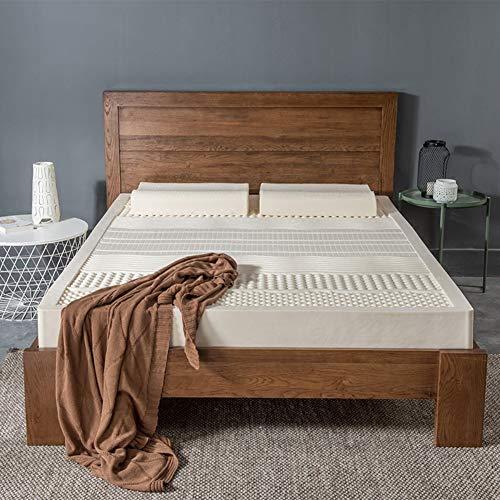 Latex Natürliches Bett (HDL Latex Mit Modal Protector Cover Matratze,atemaktiv Klappbar Natürliche rutschfeste Weiche Matratze Schlafsaal Bett Matratze-weiß 120x200cm(47x79inch))