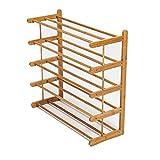 Bambus-Schuhregal-Hohes Stand-Speicher-Regal Für Tür-Balkon-Starke und Dauerhafte 5 Tier