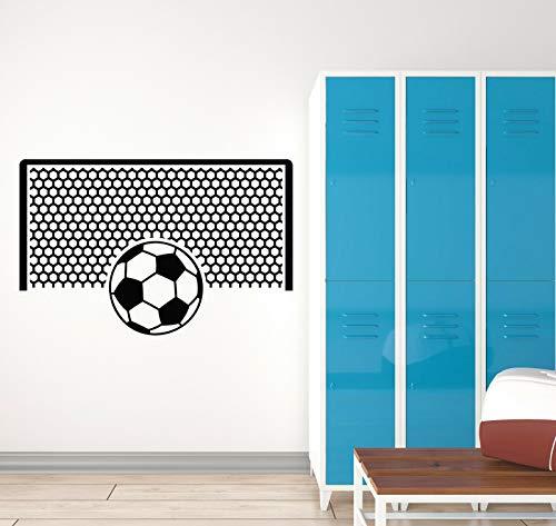myrockshirt Wandtattoo Aufkleber Fußball-Sport-Fan-Tor-Team Spielzimmer für alle glatten Flächen UV&Waschanlagenfest Auto S -