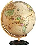 Columbus Globen - Renaissance Leuchtglobus, Dunkler Holzfuß und altmessingfarbener Kunststoff-Meridian