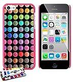 """Muzzano Le Pearls-Cover rigida, con penna stilo touch e panno per pulizia per iPhone 5C, motivo """"Make Up, colore: rosa caramella"""