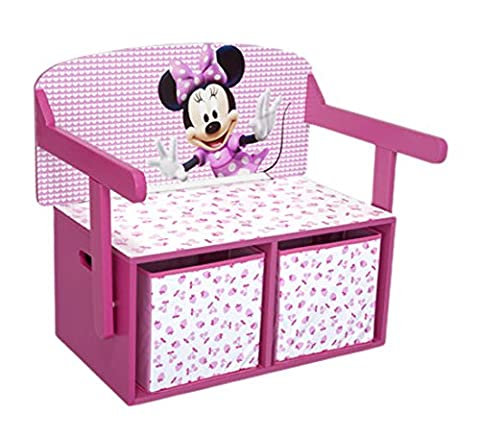 Minnie Mouse Sitzbank & Schreibtisch mit Stauraum (Rosa)