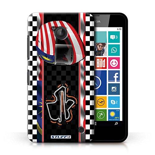 Kobalt® Imprimé Etui / Coque pour Nokia Lumia 630 / Brésil/SãoPaulo conception / Série F1 Piste Drapeau Malaisie