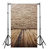 Gaddrt Photographers Photocall Backdrops Wood Wall Floor Photography Background Studio Props - 3x5FT (H)