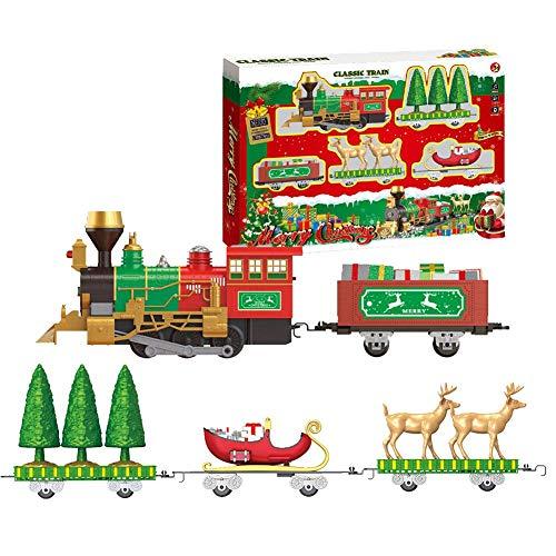 asterisknewly Trenino Elettrico per Bambini Treno Classico Toy Set Natale Electric Train Toy Set per Bambini Early Education