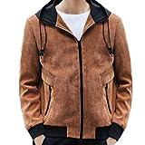 Luckycat Herren Herbst Winter Mode lässig Reine Farbe Hoodie reißverschluss Tasche Jacke Mantel Winterjacke Steppjacke Daunenjacke Parka Mäntel Jacken