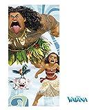 DisneyVaiana Vaiana- Tolle Gechenkidee für Kinder - Handtuch/Saunatuch/Strandtuch/Duschtuch/Badetuch - 70 x 140 cm - 100% Baumwolle - HEI HEI - Pua-Maui-