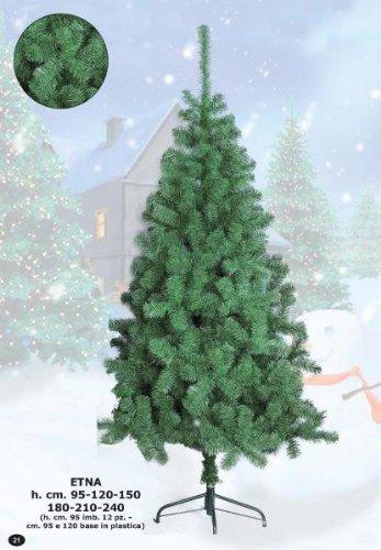 Albero di Natale ecologico ETNA cm 120 con base in plastica