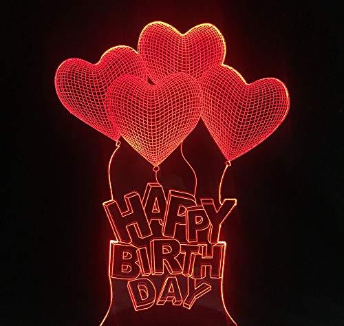 Cuatro globos de corazón con texto en alemán'Alles Gute Zum Geburtstag Gute Zum Geburtstag Alles Gute Zum Geburtstag'