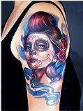 Arte Corporal Pegatinas Tatuaje removibles temporales Mujer Terrible Pegatina Tatuaje - ModaVida - FashionLife - FashionLife - amazon.es