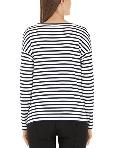 Marc Cain Additions Damen T-Shirt Mehrfarbig (Midnight Blue 395)