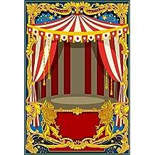 Cassisy 1,5x2,2m Vinilo Circo Telon de Fondo Carpas de Circo de Rayas