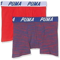 PUMA Jungen Basic Boxer Space Dye 2p Boxershorts, (Red/Blue 505), 15-16 Jahre (Herstellergröße: 176) (2erPack)
