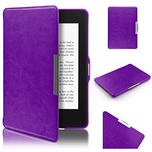 Swees-Funda-de-PU-Cuero-leather-Amazon-para-Kindle-Paperwhite-sirve-para-el-Nuevo-Kindle-Paperwhite-2015-300-PPI-3ra-Gen-2014-2013-Cubierta-magntica-con-modo-reposo-Prpura