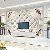 Tapete Experten-TV-Hintergrund Wand im Wohnzimmer Schlafzimmer Bett mit Wandbilder Nahtlose, Stimmung. 3dthe Tapete,