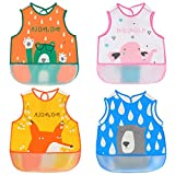 Baby Wasserdicht Lätzchen 4er Halstücher Set Baumwolle Spucktuch für Junge Mädchen 6-36 Monaten