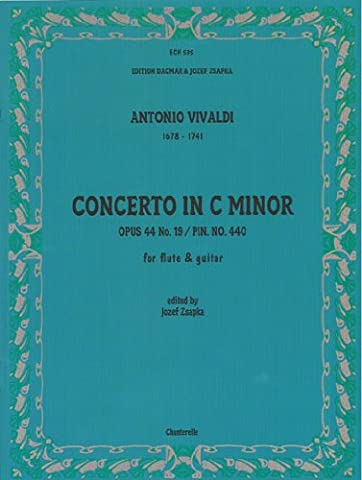 Antonio Vivaldi: Concerto in C Minor: Opus 44 No.19/Pin No.440 for Flute & Guitar