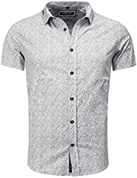 Carisma Homme Manche courte Chemise SUCRE Mince Fit Section Gemustert Sommerhemd