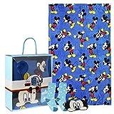 Cerdá Set Regalo Manta Mickey Calentadores, Azul (Azul 38), One Size (Tamaño del fabricante:única) para Niños