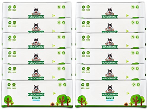 Salviette Pogi per toelettatura Pacchetto di Viaggio - 240 salviette deodoranti per Cani - biodegradabili, Senza Profumo, ipoallergeniche