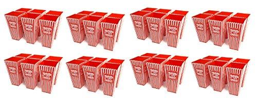 48x Retro gestreift American Kunststoff Popcorn Halter 20cms Hoch ca. Badewanne Popcorn Box für kinobesuche Cinema Parteien Theater